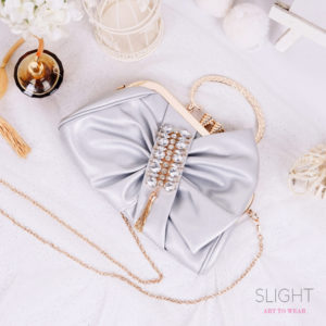 Clutch Abigail Light Silver
