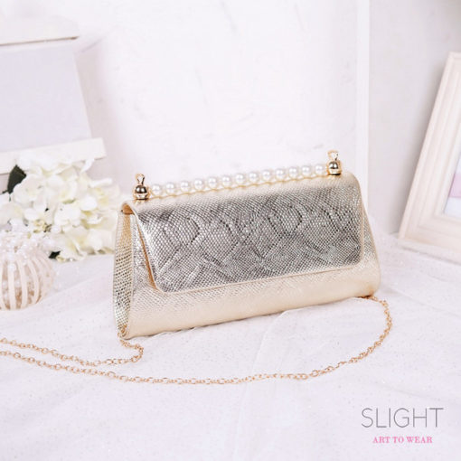 Clutch Isabelia Light Gold