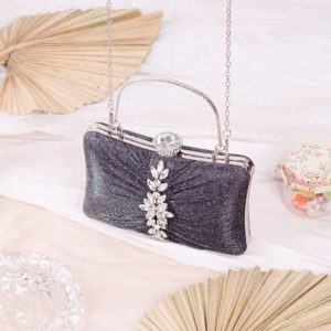 Clutch Evelyn Dark Silver