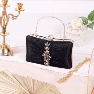 Clutch Evelyn Hitam