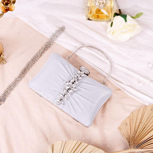 Clutch Evelyn Light Silver