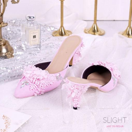 Sandal Selop Cherry Pink