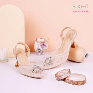 Sandal Slingback Fleur Cream